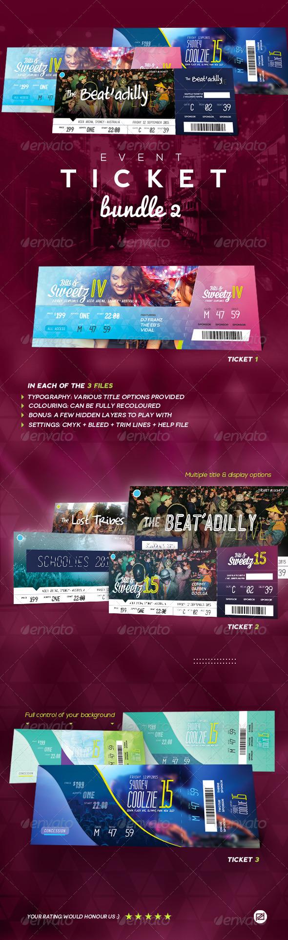GraphicRiver Event Tickets Bundle 2 8746499