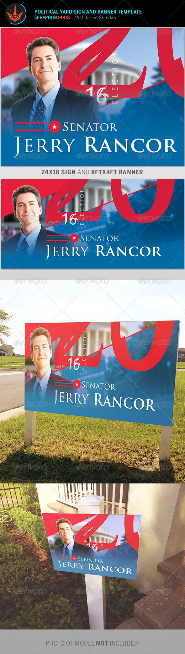 GraphicRiver Political Yard Sign and Banner Template 8753568