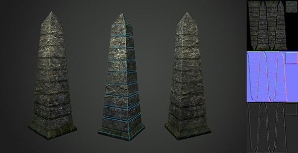 3DOcean Low Poly Pillar 8753576