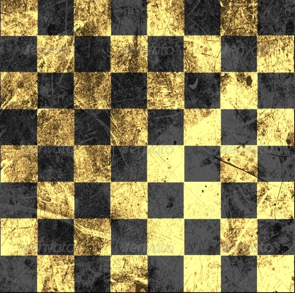 GraphicRiver Vintage Crack Old Scratched Empty Chess Board 8753633