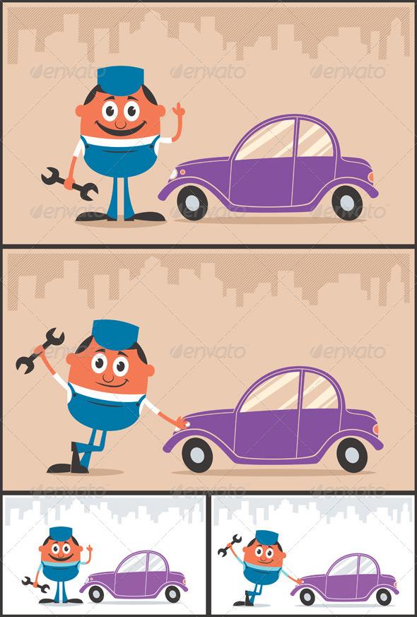 GraphicRiver Auto Mechanic 8753634