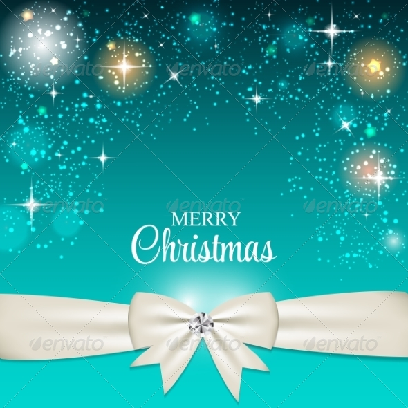 GraphicRiver Christmas Glossy Star Background with Ribbon Vecto 8753638