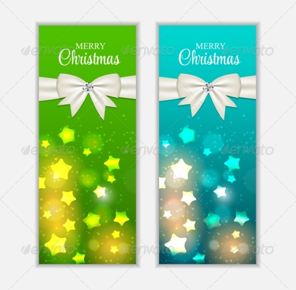 GraphicRiver Christmas Website Banner and Card Background Vecto 8753651