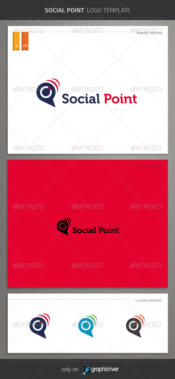 GraphicRiver Social Point Logo 8753828
