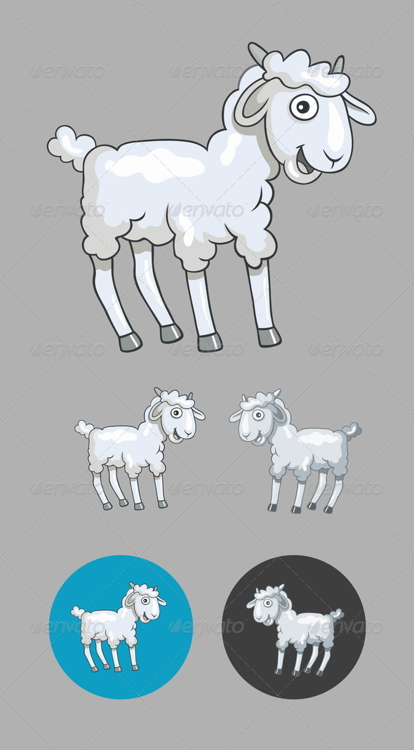 GraphicRiver Little Sheep Cartoon 8753874