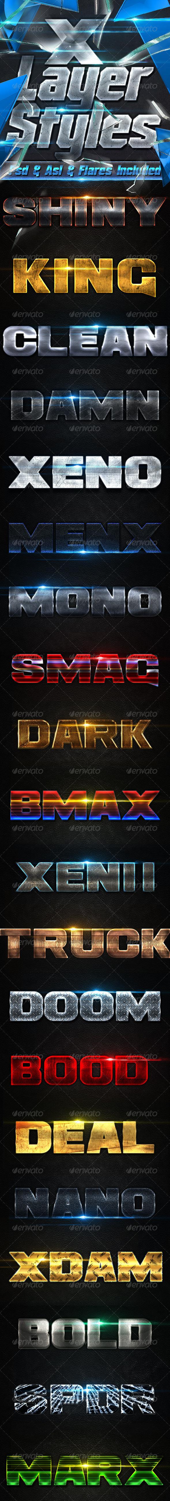 GraphicRiver X Metal Styles 8753944