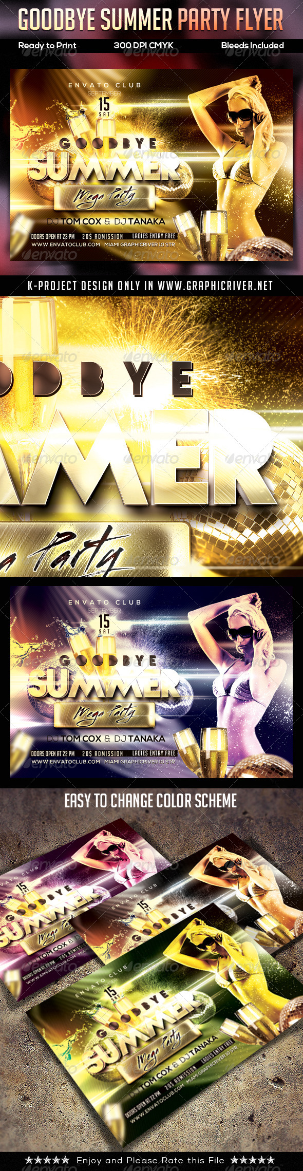 GraphicRiver Goodbye Summer Party Flyer 8753950