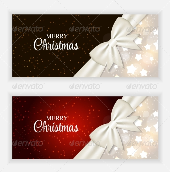Christmas Gift Card Set Vector Illustration