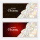 Christmas Gift Card Set Vector Illustration - GraphicRiver Item for Sale