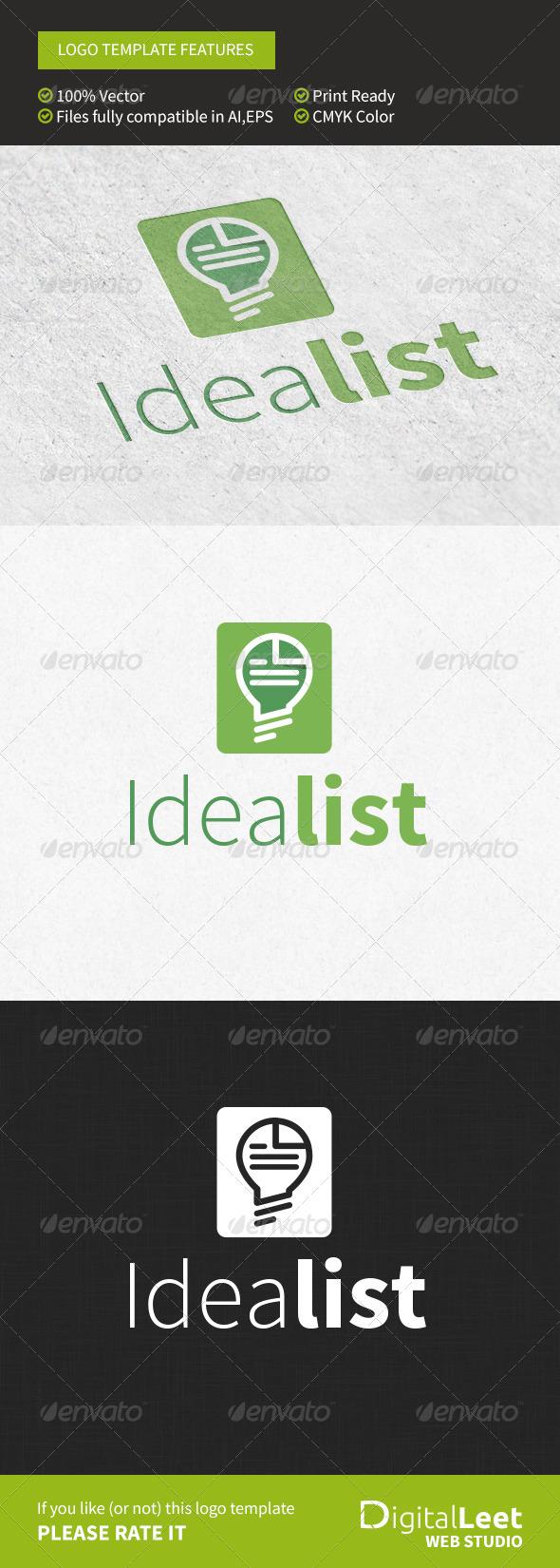 GraphicRiver Idealist Logo Template 8754065