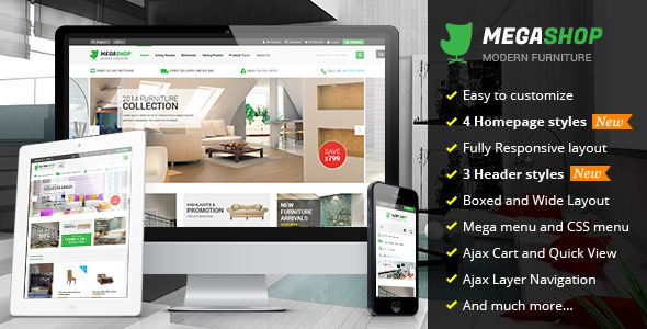 Megashop - Multipurpose Responsive Magento Theme - Shopping Magento