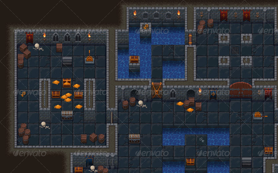Top Down Roguelike Dungeon Crawl Rpg Tileset By Shizayats