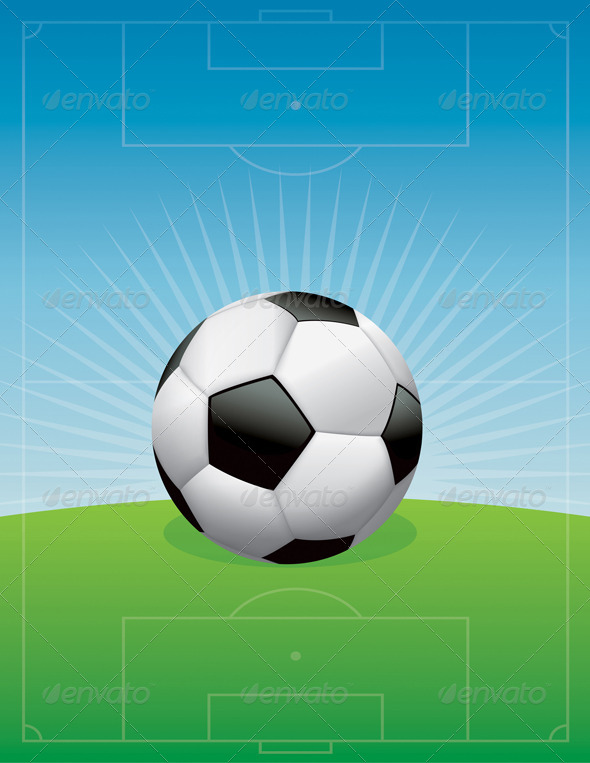 GraphicRiver Vector Soccer Football Field Background 8754217