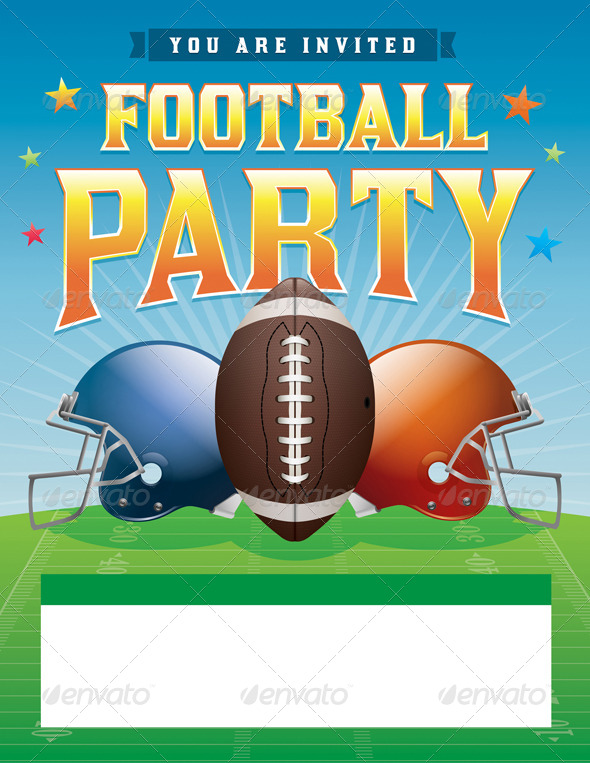 GraphicRiver Vector Football Party Illustration 8754239
