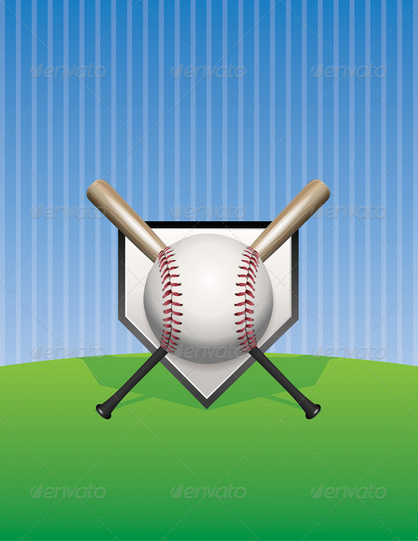 GraphicRiver Vector Baseball Background Illustration 8754243