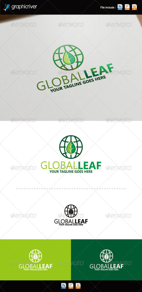 GraphicRiver Green World Logo 8754364