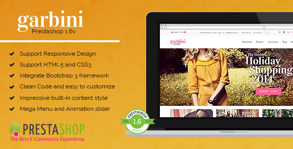 ThemeForest Garbini Stylish Prestashop Theme 8754418