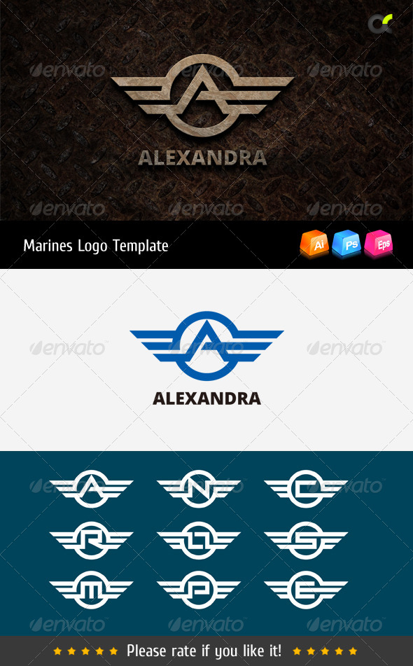 GraphicRiver Marines Logo Template 8754430