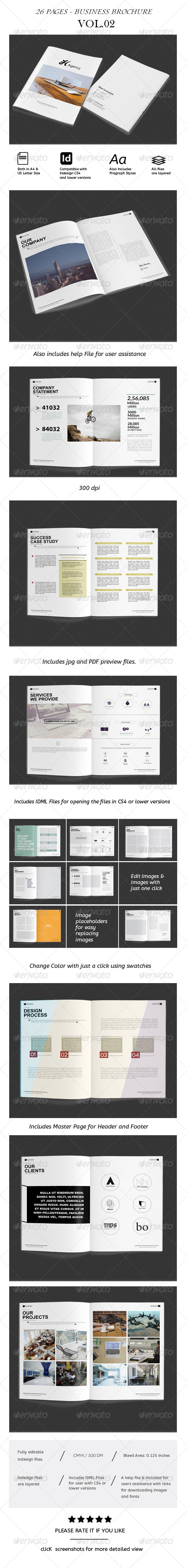 GraphicRiver Corporate Business Brochure Vol.2 Catalog Agency Portfolio 8713129