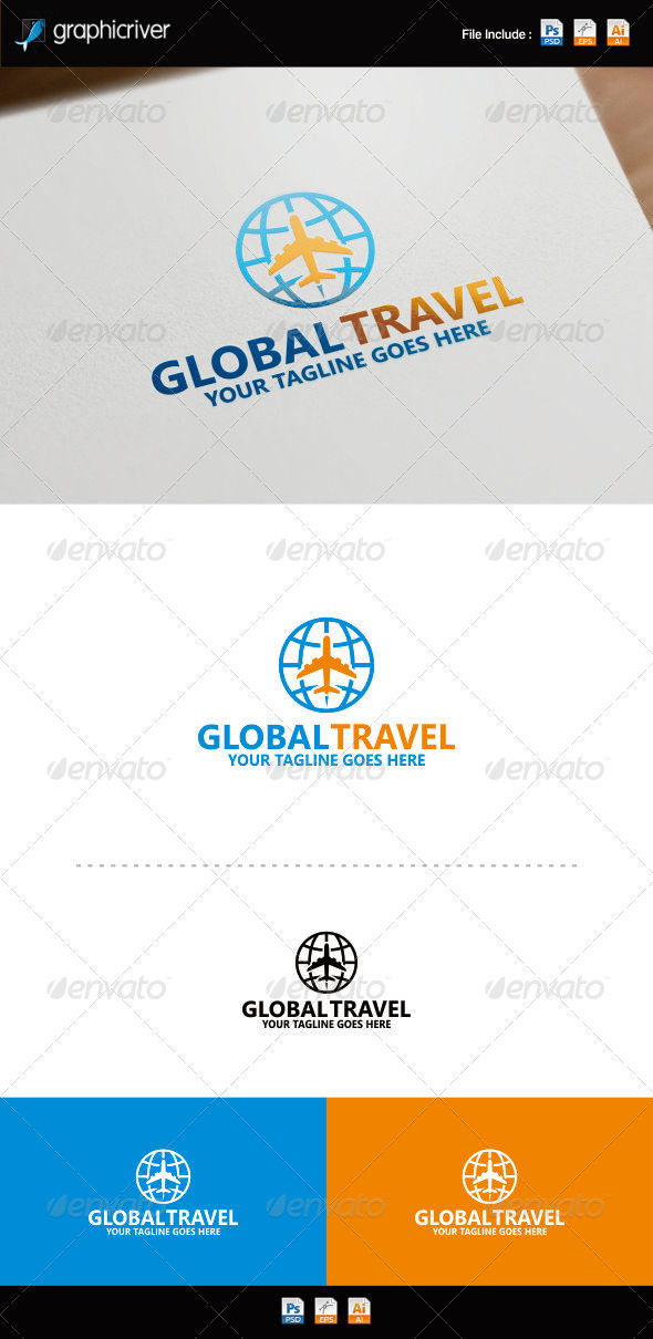GraphicRiver World Travel Logo 8754470