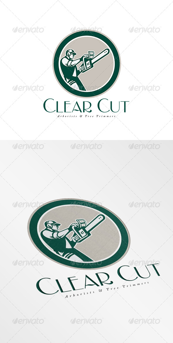 GraphicRiver Clear Cut Arborists Logo 8754527