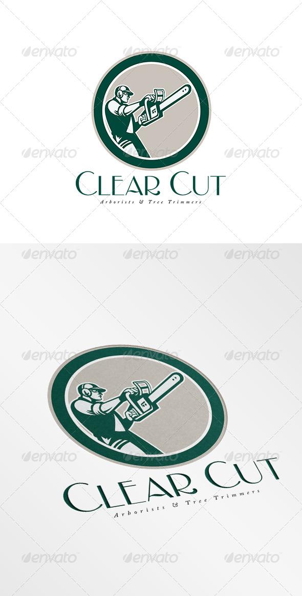 GraphicRiver Clear Cut Arborists Logo 8754527