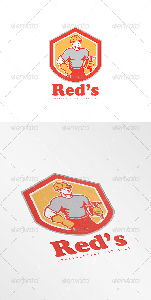 GraphicRiver Red s Construction Services Logo 8754533