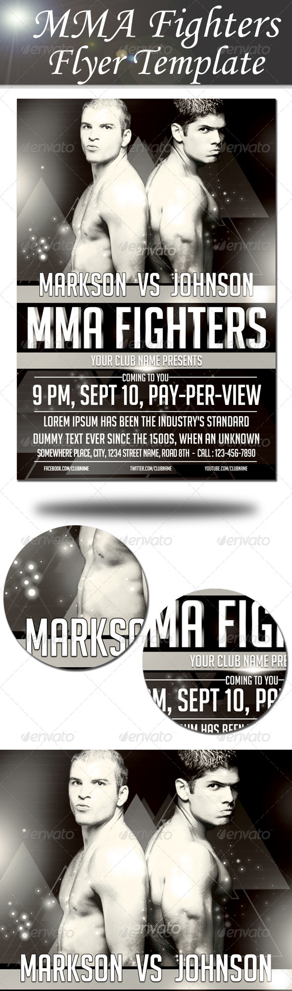 GraphicRiver MMA Fighters Flyer Template 8754548