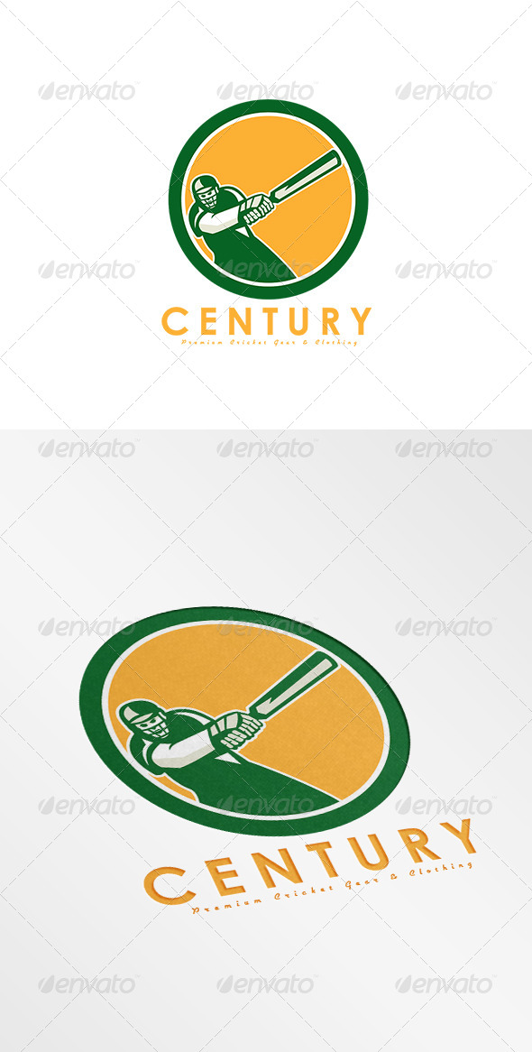 GraphicRiver Century Premium Cricket Gear Logo 8754554