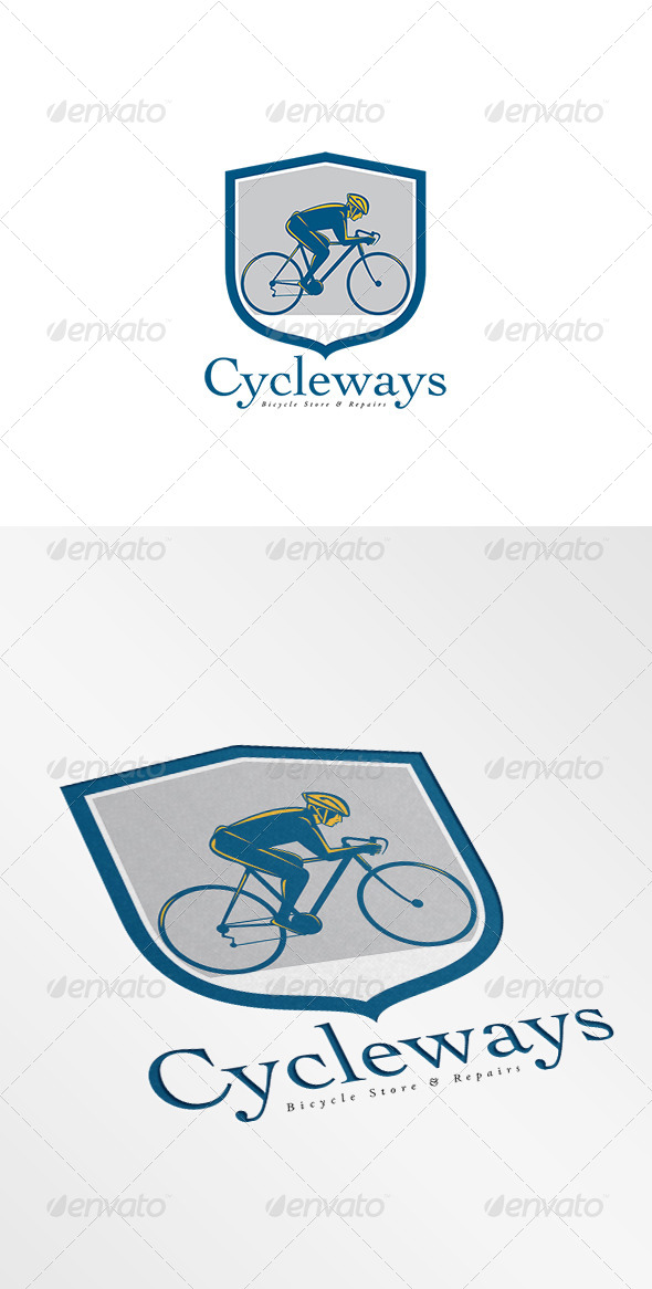 GraphicRiver Cycleways Bicycle Store Logo 8754560