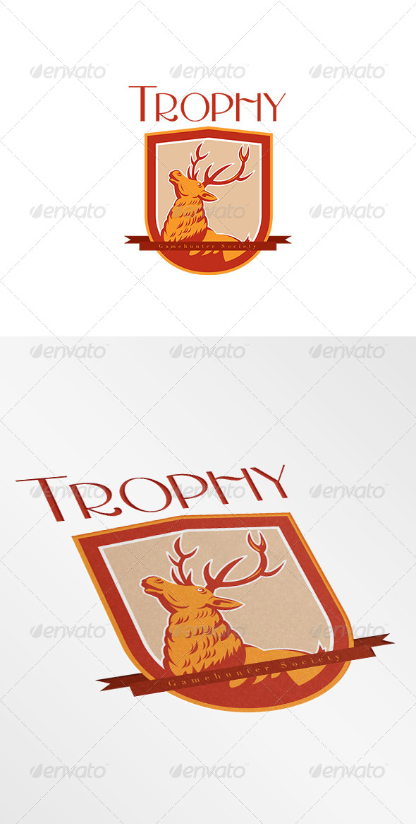 GraphicRiver Trophy Game Gunter Society Logo 8754565