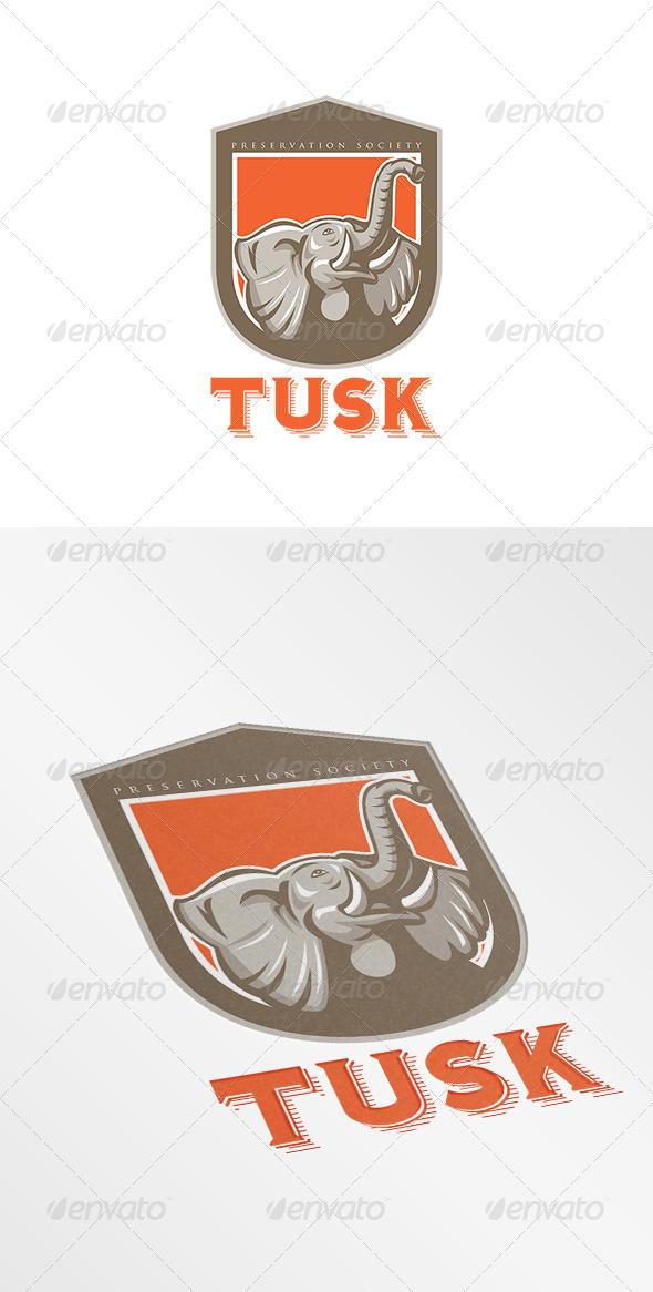 GraphicRiver Tusk Preservation Logo 8754567