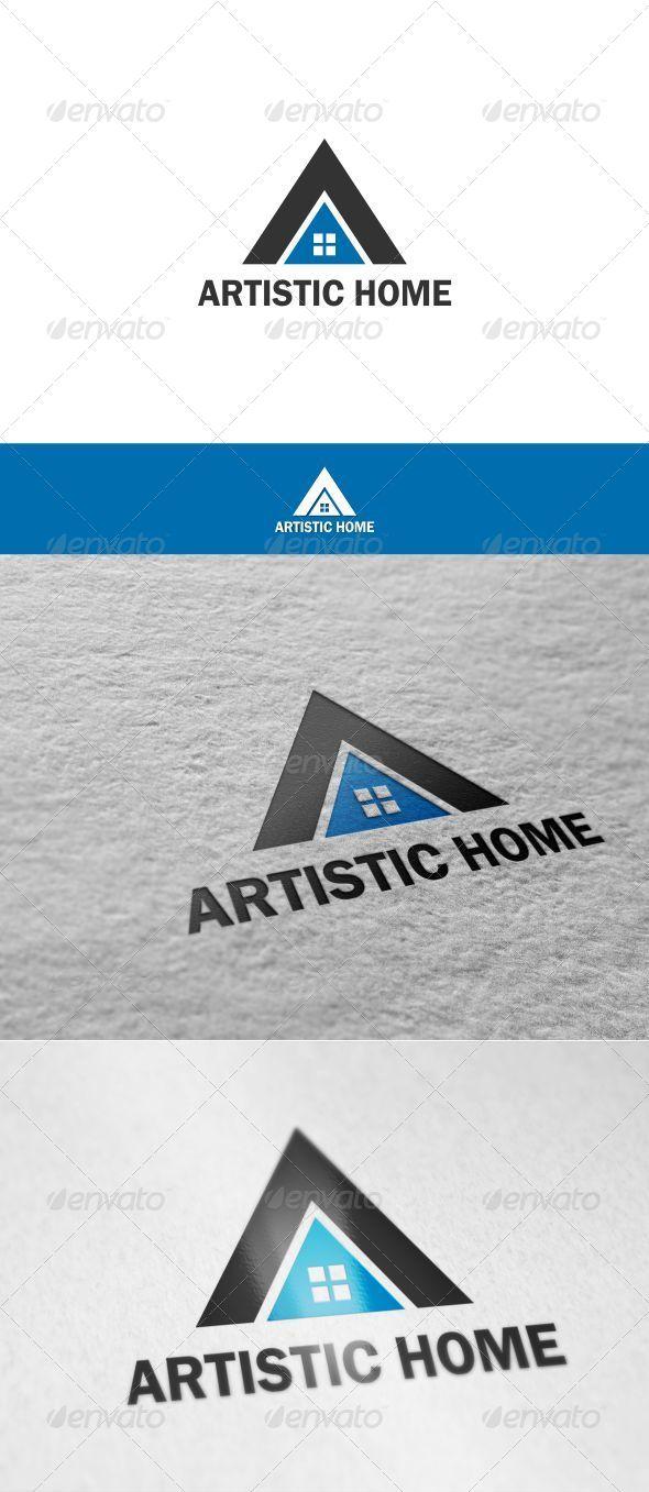 GraphicRiver Letter A Home Logo 8754600