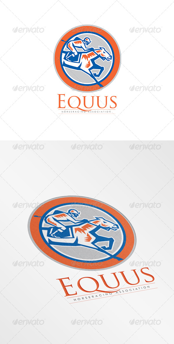 GraphicRiver Equus Horse Racing Association Logo 8754608