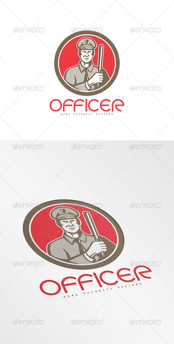 GraphicRiver Officer Home Security Systems Logo 8754648