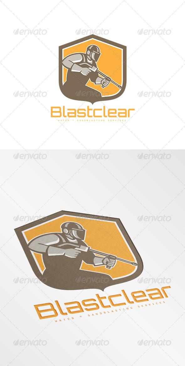GraphicRiver Blastclear Waterblastiung Services Logo 8754719