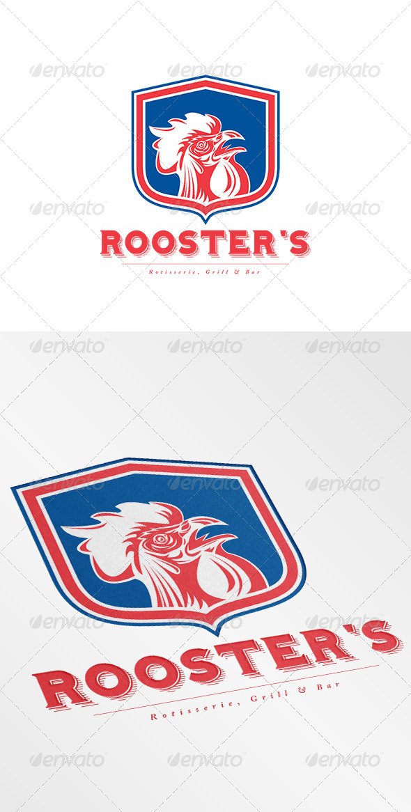 GraphicRiver Rooster s Grill and Bar Logo 8754724