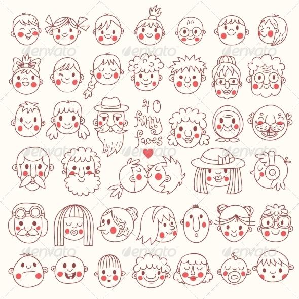 GraphicRiver Funny Faces 8754734