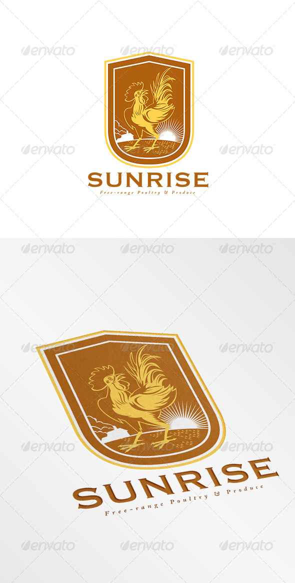 GraphicRiver Sunrise Free Range Produce Logo 8754753