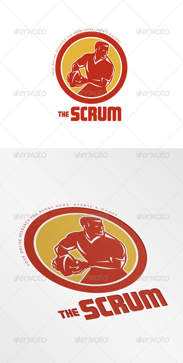 GraphicRiver The Scrum Rugby News Logo 8754757