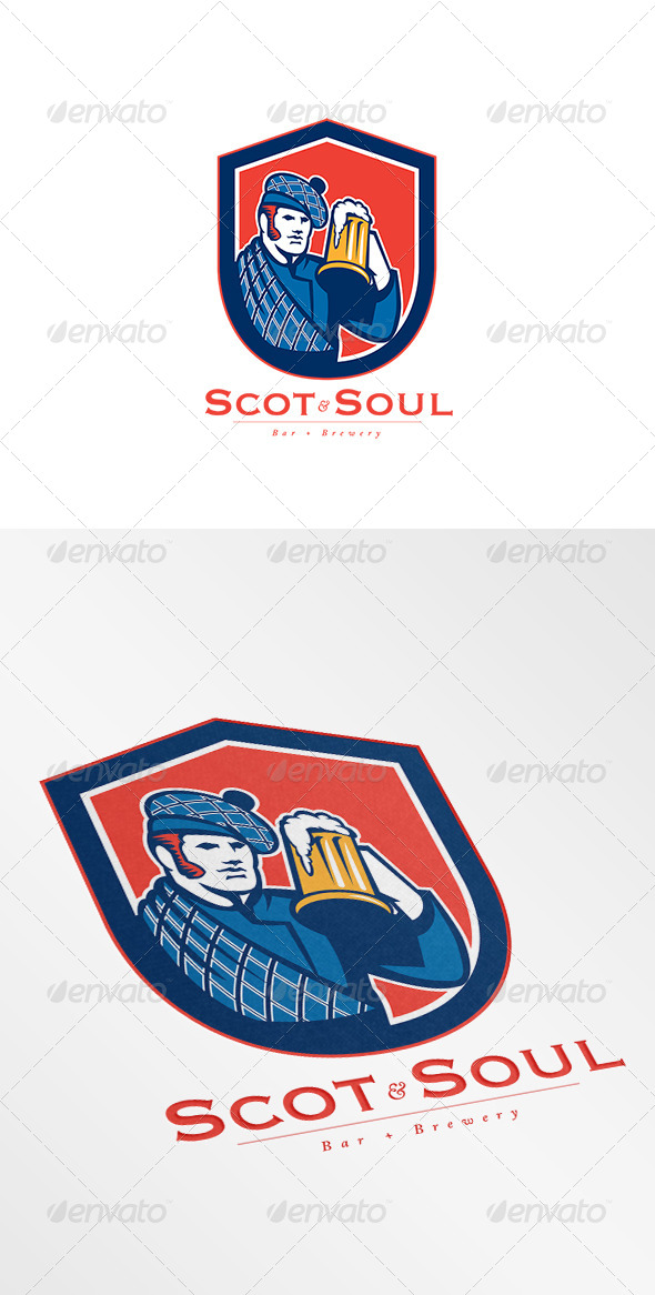 GraphicRiver Scot Soul Brewery Logo 8754769