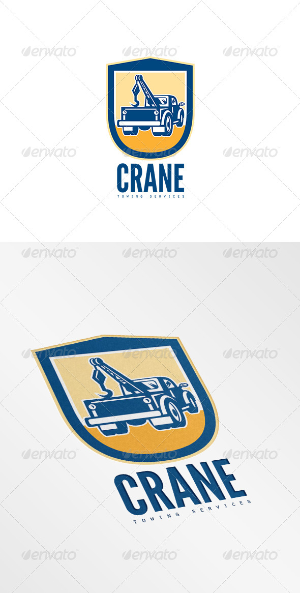 GraphicRiver Crane Towing Services Logo 8754771