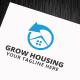 Grow Housing Logo Template - GraphicRiver Item for Sale