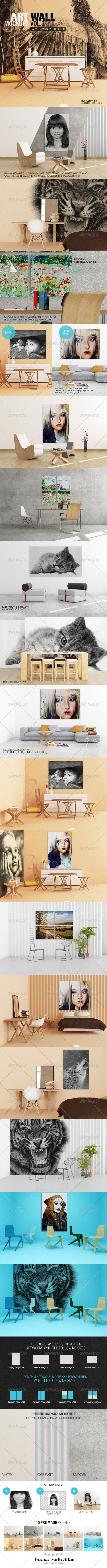 GraphicRiver Art Wall Mockups Vol.5 8752215