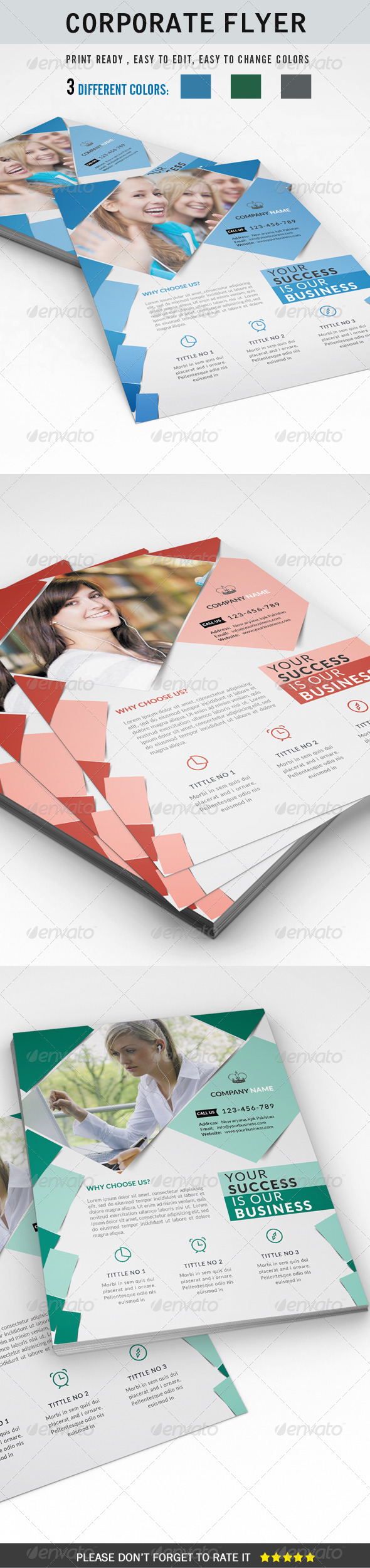 GraphicRiver Corporate Flyer 8754994