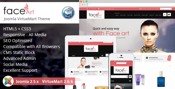 ThemeForest Face Art Responsive VirtueMart Theme 8755344