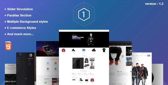 One - Multi-Purpose Parallax HTML5 Template - Portfolio Creative