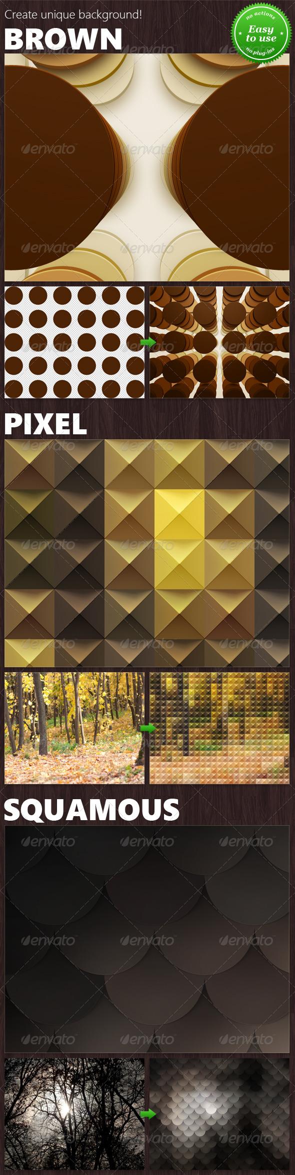 GraphicRiver Set of 3 Backgrounds Mockups 8755409