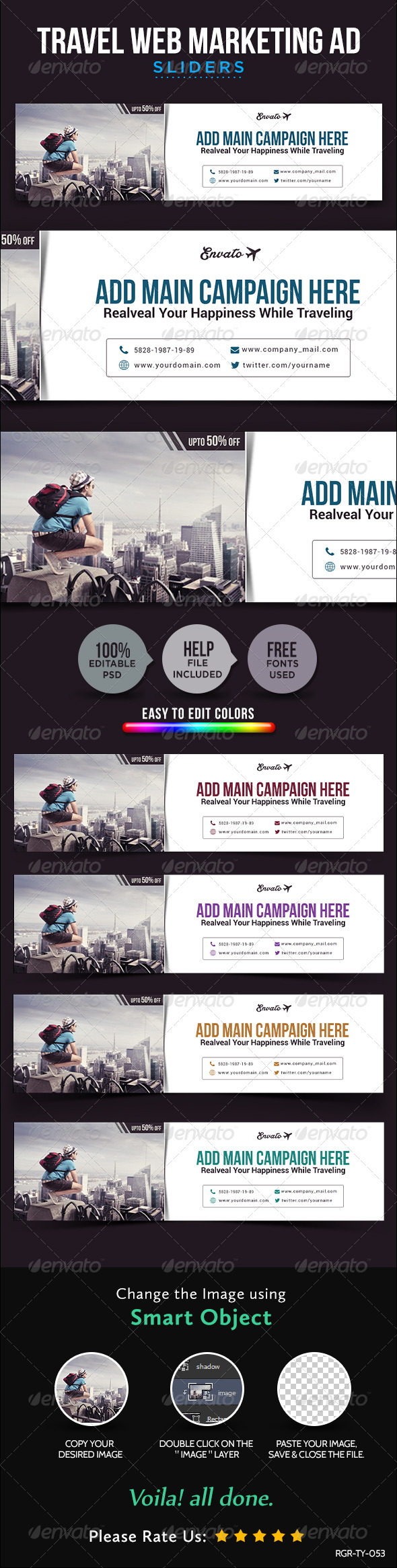 GraphicRiver Travel Sliders 8755737