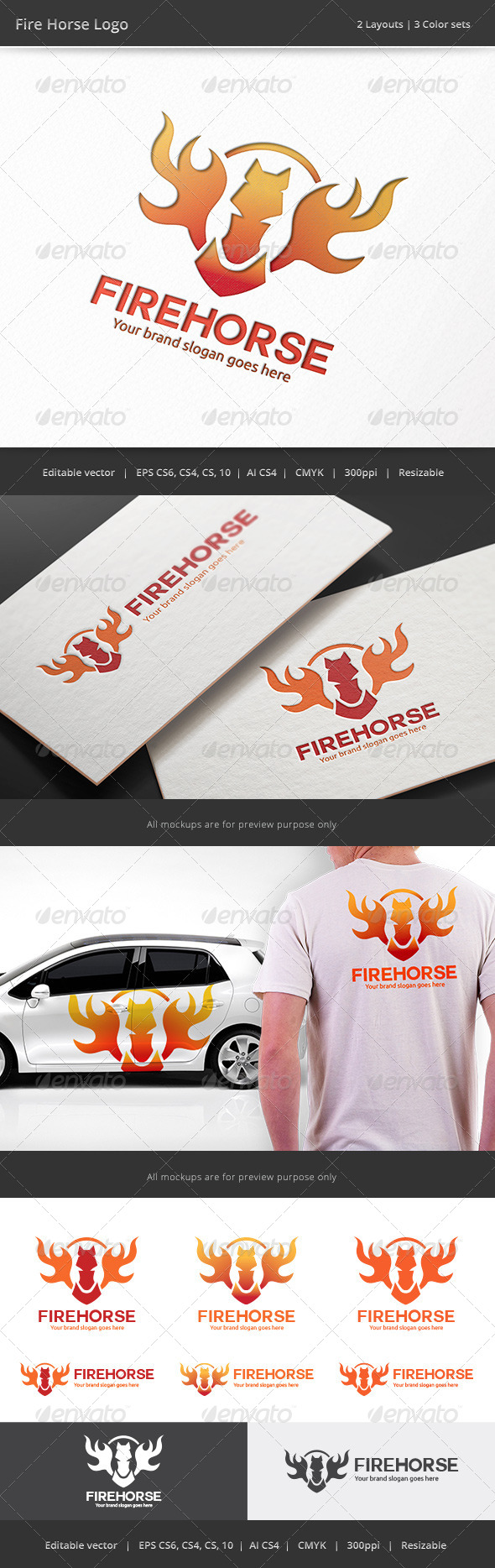 GraphicRiver Fire Horse Logo 8755749